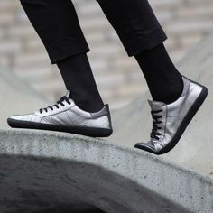 Women | GROUNDIES Urban Barefootwear Ibiza, Exclusive Shoes, Barefoot Shoes, Metallic Leather, Shoe Collection, Lady, Designer Shoes, All Black Sneakers, Urban