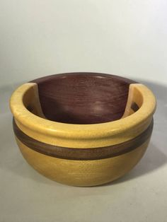 Yellowheart and Purpleheart Segmented Bowl