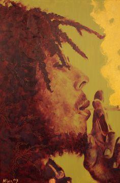 Bob Marley Painting Reggae Bob Marley, Bob Marley Art, Bob Marley Quotes, Smoke Weed Wallpaper, Bob Marley Painting, Bob Music, Cartoon Smoke, Reggae Art, Love Is My Religion