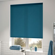Valencia Turkish Blue Roller Blind