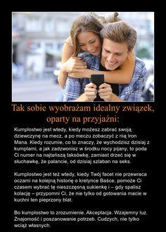 Tak sobie wyobrażam idealne związek! Polish To English, Humor, Couple Photos, Quotes, Life, Historia, Couple Shots, Quotations, Humour