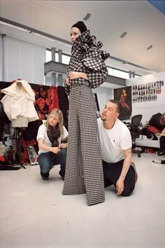 Alexander McQueen by Nick Waplington: flared trousers