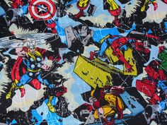 Marvel  Comics Collage Fabric -- for capes