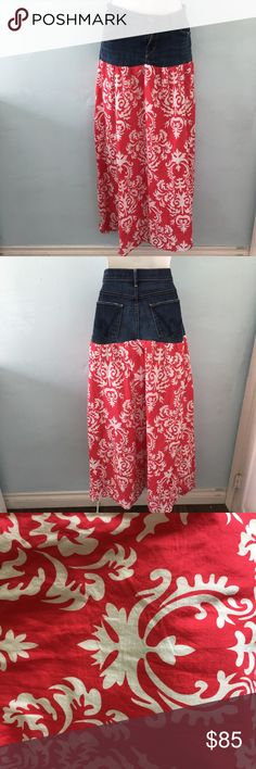 Citizens of Humanity Jean/Fabric Long Skirt Citizens of Humanity Jean/Fabric Long Skirt. Size 32. Beautiful and fun color for spring and summer. Let me know if you have any questions. :) Citizens of Humanity Skirts
