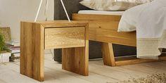 Nachtkästchen JOKA Linea Pura 8955 Wildeiche Nightstand, Table, Furniture, Home Decor, Architectural Materials, Beds, Types Of Wood, Oak Tree, Decoration Home