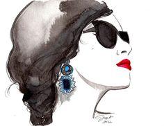 Sunblocking by Jessica Durrant #illustration #fashion