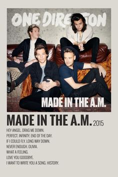 poster by me:) room posters Alternative Minimalist Music Album Polaroid Poster- Made in the AM 2015 Iconic Movie Posters, Minimal Movie Posters, Minimal Poster, One Direction Albums, One Direction Posters, Canciones One Direction, Photowall Ideas, Vintage Music Posters, Vintage Movies