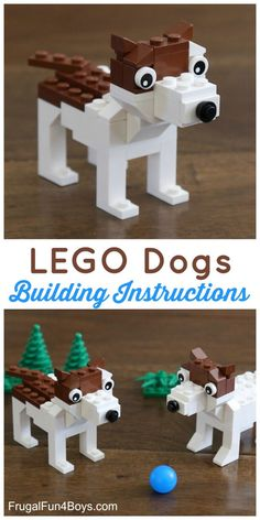 a Terrier Dog with LEGO® Bricks Build a Terrier Dog with LEGO® Bricks - Building instructions in the post.Build a Terrier Dog with LEGO® Bricks - Building instructions in the post. Lego Duplo, Lego Design, Lego Dog, Activities For Kids, Crafts For Kids, Stem Activities, Lego Challenge, Lego Club, Lego Craft