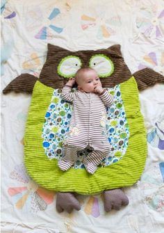 owl play mat - maybe make it a wolf??