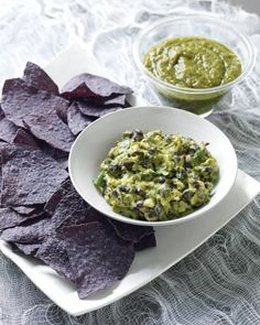 Sinister Salsa: Guacamole with Black Beans - Is that pebbly sludge, dredged up from a nearby swamp, or creamy guacamole studded with black beans and minced chiles? Only a bite -- or two -- will reveal the true tastiness in the bowl.
