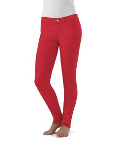 Red Denim Jeggings - made in the USA!