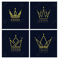 Find tips and tricks, amazing ideas for Vintage logos. Discover and try out new things about Vintage logos site King Crown Tattoo, Small Crown Tattoo, Crown Tattoo Design, Design Vector, Web Design, Logo Royal, Logo Abstrait, Crown Painting, Queen Drawing