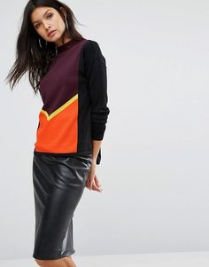 River Island | River Island Color Block Slouchy Sweater