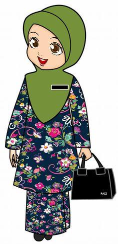 Teacher Cartoon, School Cartoon, Anime Muslim, Muslim Hijab, Muslim Girls, Muslim Women, Animated Teacher, Teacher Picture, Train Crafts