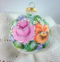 Check out this item in my Etsy shop https://www.etsy.com/listing/229003160/victorian-christmas-ornament-rose-pansy
