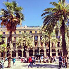 Plaça Reial in Barcelona, Cataluña