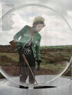 Editorial: The Lady Who Fell to Earth Model:Kinga Rajzak photography: Tim Walker Stylist:Kate Phelan Vogue UK Oct.09