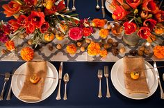 Colorful, earthy Fall wedding inspiration | Photo by Tara Brown Photography | Read more - http://www.100layercake.com/blog/?p=71754