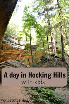 Yes, you can hike at Hocking Hills with kids.  Four tips for if you go.  #ohio #travel
