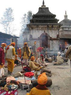 Hindu Cosmos - Sadhus at Pashupatinath Temple, Kathmandu Nepal. Voyage Nepal, Nepal Kathmandu, Amazing India, India Travel, Travel Nepal, Varanasi, Himalayan, World Cultures, Afghanistan