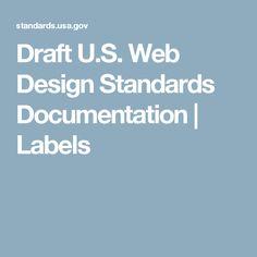 Draft U.S. Web Design Standards Documentation | Labels