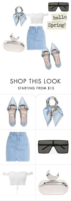 """""""Untitled #514"""" by nikkirozaye on Polyvore featuring Miu Miu, Hermès, Yves Saint Laurent and Benedetta Bruzziches"""