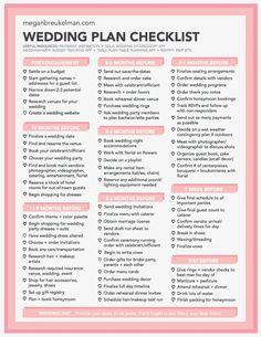 Wedding Planner Checklist, Wedding Checklist Printable, Wedding Planner Binder, Wedding Planning Timeline, Wedding Checklists, Wedding Planning Ideas, Diy Wedding Planning Checklist, Wedding Ideas, Reception Checklist