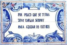 Frases do Facebook - Por pouco que se tenha, deve chegar sempre para ajudar os outros - Pontos de Vista #learnportuguese