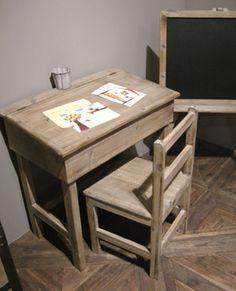 bureau d 39 colier en ch ne et h tre ancien avec ses. Black Bedroom Furniture Sets. Home Design Ideas