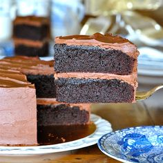 JULES FOOD...: Black Magic Cake with Whipped Dark Chocolate Ganache