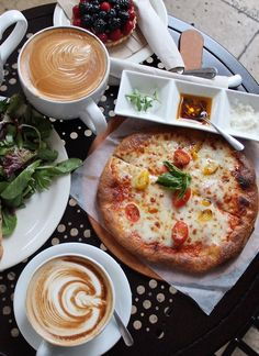 pizza inspiration; coffee inspiration; salad inspiration; sweet treat inspiration