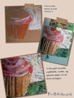 Cupcake collage - 4th grade