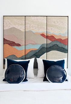 Don't stick with a boring headboard! This woven landscape is a bold centerpiece that will become the focal point of your bedroom design.
