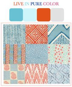 orange, turquoise, gray = awesome!