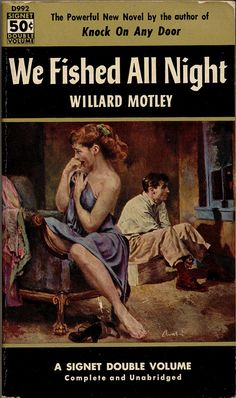 James Avati cover for Signet edition (1953) of We Fished All Night by Willard Motley