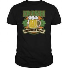 Awesome Tee Irish Drinking Team Funny St Patricks Day Tshirt Shirts & Tees