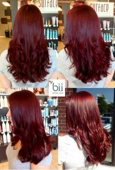 Pravana + + + 10 vol all over, with a 20 minute (no heat) processing time. If I ever were to dye my hair, I would love this color! Dark Red Hair, Burgundy Hair, Pravana Hair Color, Hair Color Formulas, Beautiful Hair Color, Natural Hair Styles, Long Hair Styles, Hair Color And Cut, Auburn Hair