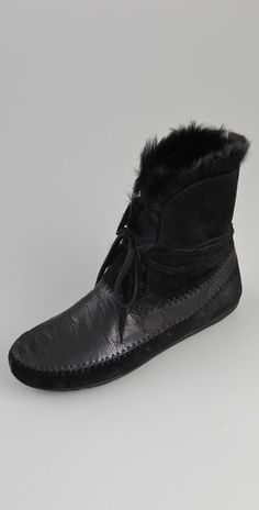 House of Harlow 1960  Madoxx Fur Booties