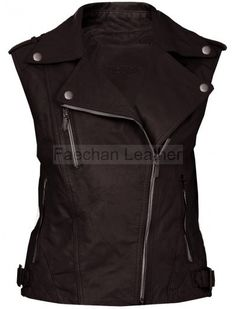 Gleeful Brown Women's Quilted Leather Vest
