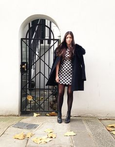 Maddy from Moxham // Ram Black Minidress and Woven Tee.