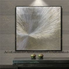 Silver Leaf Art Original Texture Abstract Painting Silver Painting Silver Leaf Wall Art ,Modern Art Painting On Canvas by Julia Kotenko Silver Leaf Painting, Abstract Tree Painting, Gold Leaf Art, Silver Wall Decor, Silver Walls, Large Canvas Art, Large Wall Art, Texture Art, Texture Painting