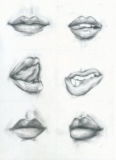 Como desenhar lábios