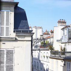 Adorable rooftops view of Le Marais old buildings from Le Pavillon de la Reine in Paris  by alleedesroses instagramers I like
