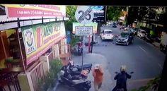 Video Kecelakaan Motor Tabrak Mobil di Jalan Gajah Mada Solo Jadi Viral