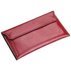 Admetus Genuine Leather Thin Long Clutch Purse Envelope Wallet for Women Red ** Additional info @