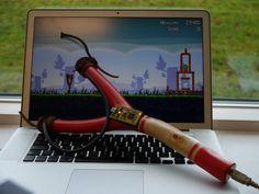 USB接続のパチンコをつくって、Angry Birdsのコントローラーとして使う