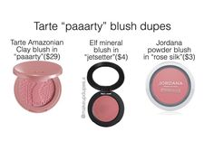 """752 Likes, 13 Comments - makeup dupes (@makeupdupes.x) on Instagram: """"here are some dupes for the tarte blush in paaarty! these blushes have a satin matte finish and…"""""""