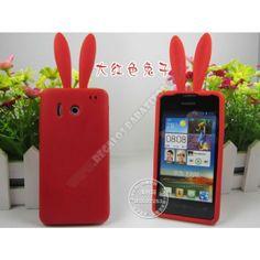 Carcasa divertida silicona conejo para Huawei Y300 - Protege tu smartphone a la vez que lo vistes con esta genial Carcasa divertida silicona conejo para Huawei Y300