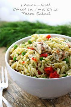 Lemon-Dill Chicken and Orzo Pasta Salad