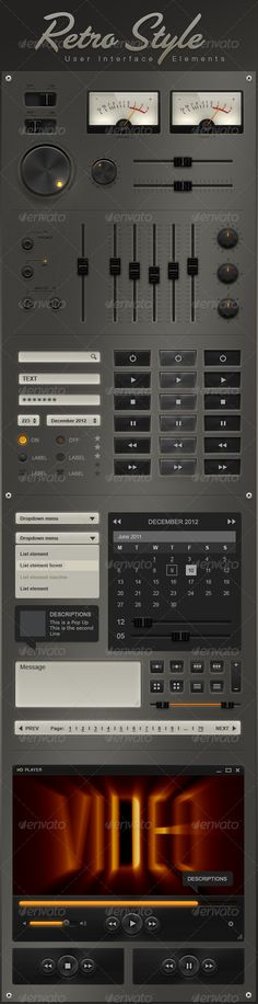 Retro User Interface Elements
